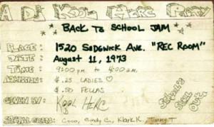 DJ Kool Herc Summer Jam Flyer